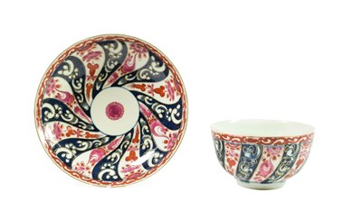 Lot 58 - A Worcester Porcelain Breakfast Tea Bowl and Saucer, circa 1775, painted with the Queen...