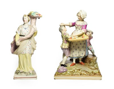 Lot 83 - A Pearlware Figure Group, circa 1810, in Meissen style, modelled as two boys trying to steal...