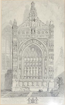 Lot 362 - After John Sell Cotman (1782-1842) Norwich Cathedral Gate Black and white plate, first...
