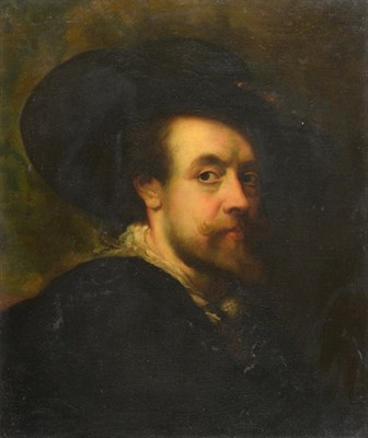 Lot 378 - Manner of Peter Paul Rubens (1577-1640) Self portrait  Oil on canvas, 59.5cm by 49.5cm   This...