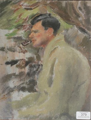 Lot 379 - Monica Rawlings (1903-1990) Welsh ''Fishing'' Oil on board, titled and inscribed to artists...