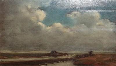 Lot 380 - Paul Paul (1865-1937) Coastal view Signed, oil on board, 12cm by 20cm