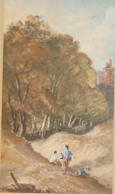 Lot 384 - Sir George Howland Beaumont (1753-1827) ''Blackheath'' showing Vanbrugh Castle  Mixed media,...