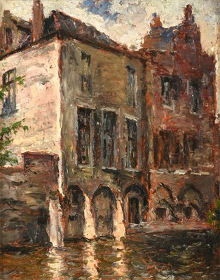 Lot 388 - Alexander Jamieson (1873-1937) Scottish Bruges Signed, inscribed and dated 1933 verso, oil on...