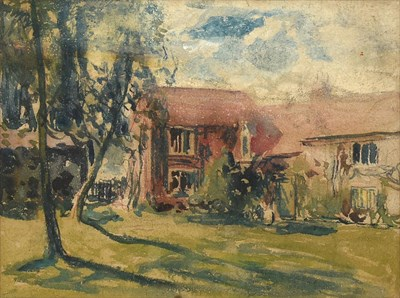 Lot 391 - Alexander Jamieson (1873-1937) Scottish View of the studio  Oil on panel, together with a...