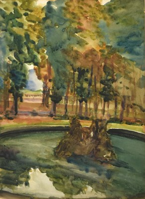 Lot 396 - Alexander Jamieson (1873-1937) Scottish Fountains, Versailles Watercolour, 35cm by 25.5cm  See...
