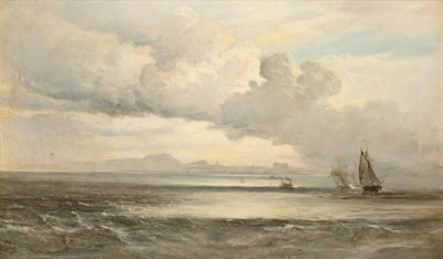 Lot 398A - William Fleming Vallance RSA (1827-1904) Scottish Extensive seascape with boats in full sail...