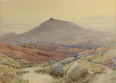 Lot 424 - Alfred Fontville De Breanski (1877-1957) The Marsh, Dartmoor Signed, allegedly inscribed verso,...