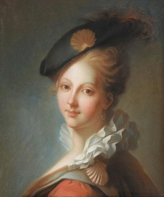 Lot 426 - Follower of Rosalba Carriera (1673-1757) Italian  Portrait of a fashionable young lady wearing...