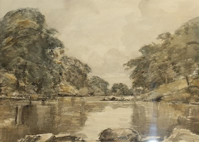 Lot 429 - David Muirhead ARA (1867-1930) Scottish ''On the river Lune'' Signed and dated 1924,...