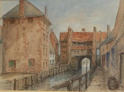 Lot 434 - British School (19th century)  ''High Bridge - Lincoln'' Inscribed, dated '13 Aug 1874' pencil...