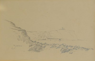 Lot 436 - Edward Duncan RWS (1803-1882) ''Near Gravesend''  Signed and inscribed, pencil, together with a...