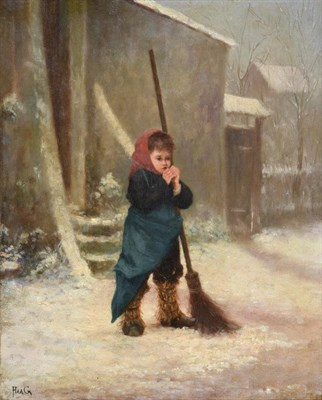 Lot 441 - Jean Paul Haag (1854-1906) French The little chimney sweep Signed, oil on panel, 26cm by 21.5cm...