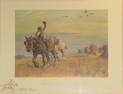 Lot 445 - Charles Johnson Payne ''Snaffles'' (1884-1967) ''Forrard on me lads and hit 'em 'ard'' Signed...