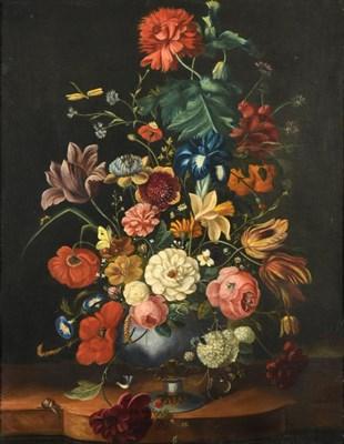Lot 449 - Manner of Jean-Baptiste Monnoyer (1636-1699) French Still life of flowers including Iris,...