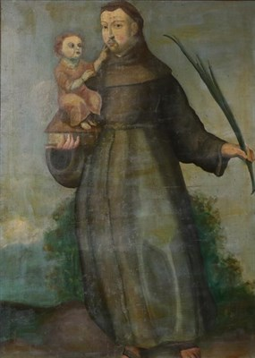 Lot 455 - Continental School (20th century) St Anthony of Padua with the Christ child  Oil on canvas,...