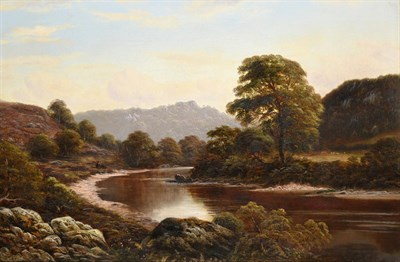 Lot 398 - Thomas Spinks (fl.1872-1907)  On the Wye Monmouth Signed and dated 1874. oil on canvas, 49.5cm...