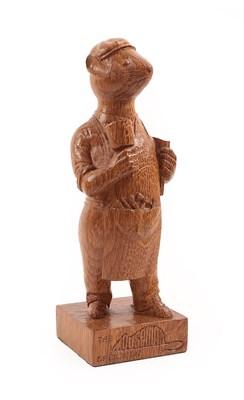 Lot 2092 - Workshop of Robert Mouseman Thompson (Kilburn): An English Oak Anthropomorphic Mouse, wearing...