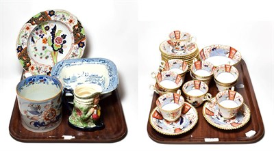 Lot 10 - A group of 19th century Spode tea wares and other 19th century ceramics including Spode mug,...