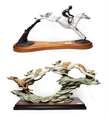 Lot 18 - Florence limited edition model of ''Running Free'' 720/972, and a limited edition model of ''Desert