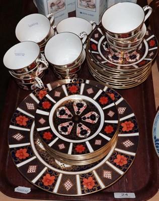 Lot 24 - Royal Crown Derby Imari teawares pattern 1128.