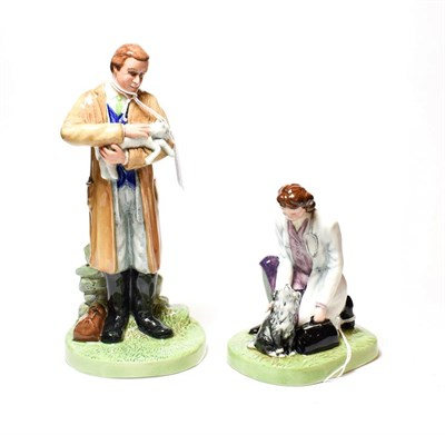 Lot 29 - Pair of Royal Doulton figures, Veterinary Town and Veterinary Country (2)