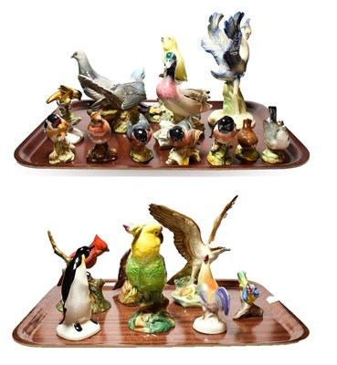 Lot 31 - Beswick and other bird models, including a Grey Pigeon model number 1383, Cuckoo model number 2315