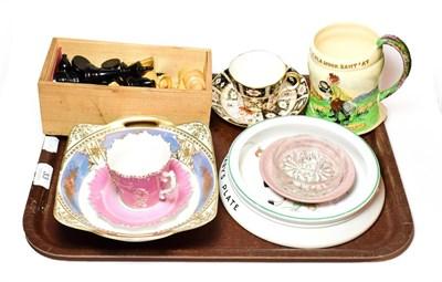 Lot 33 - A Shelley Lucie Attwell baby plate, crown Devon Fieldings musical mug, Noritake bowl, Royal...