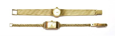 Lot 60 - A lady's Omega 9 carat gold wristwatch and another 9 carat gold wristwatch signed Imaco