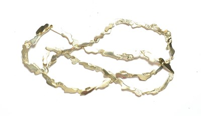 Lot 73 - A contemporary silver necklace, length 65cm