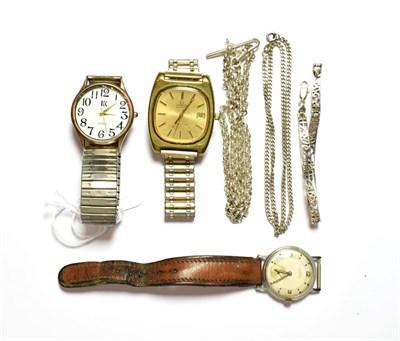 Lot 75 - A gold plated automatic Omega wristwatch, a stainless steel Roamer wristwatch, a quartz wristwatch