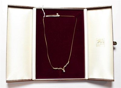 Lot 82 - A 9 carat gold gem set necklace, length 42cm