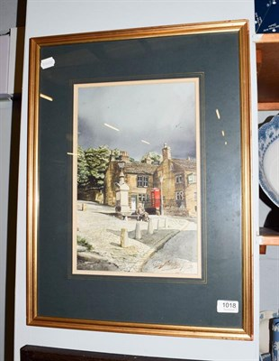 Lot 1018 - Geoff Butterworth (20th century) Threat of rain, signed, watercolour, together with a 20th...