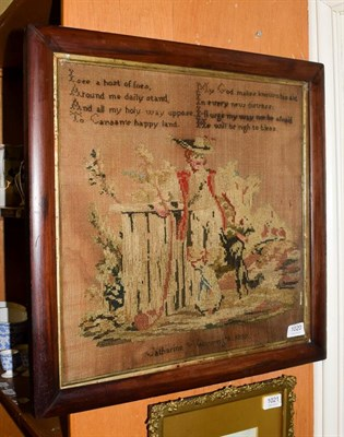 Lot 1020 - A Victorian woolwork picture by Catherine Wainwright 1839