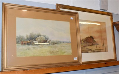Lot 1024 - A* Meyrick, A break from harvesting, signed and dated 1903, watercolour, together with a...