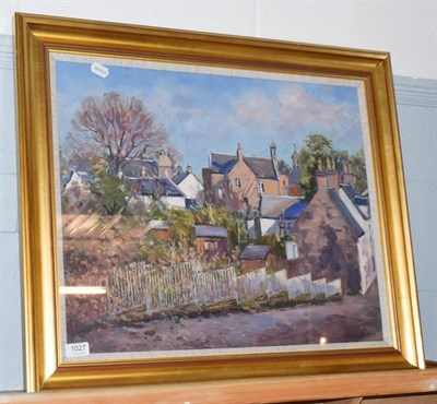 Lot 1027 - J*D*Henderson (20th century) Townscape, signed and dated (19)90, oil on canvas, 49cm by 59cm