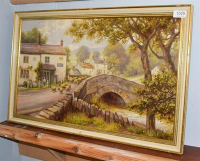 Lot 1029 - Albert Edward Jackson (1873-1952) ''Malham Village, Airedale, Yorkshire'' signed oil on board, 36cm