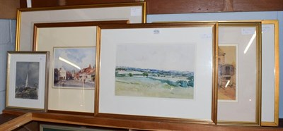 Lot 1032 - Sir Herbert Hughes-Stanton RA, Yorkshire landscape, together with a quantity of further pictures to
