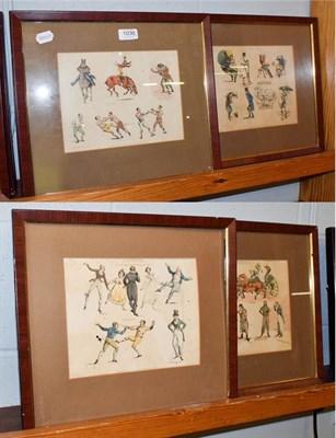 Lot 1036 - After Henry Alken, eight framed caricature pictures entitled 'Symptoms'