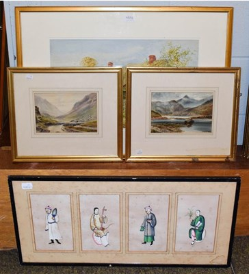 Lot 1039 - Violet Lindsell, Country cottage, signed watercolour, together with W White, two Scottish...