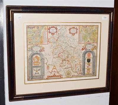 Lot 1046 - John Speed, Hand coloured map of Buckingham, mounted, framed and glazed
