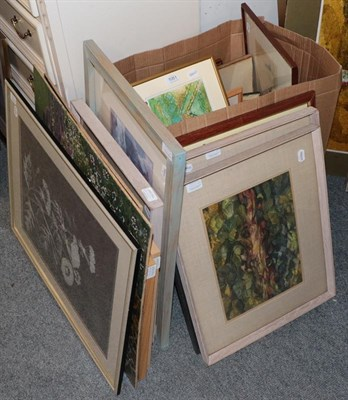 Lot 1051 - Zillah Patrick, collagraph, together with a collection a miscellaneous prints and paintings by...