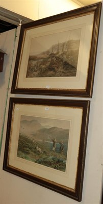 Lot 1052 - After Walton, Duck flighting and partridge shooting, two coloured prints, 42cm by 61.5cm