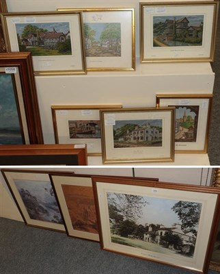 Lot 1055 - Nine various works of Cheshire interest, antique photograph of Alderly edge, a print of old...