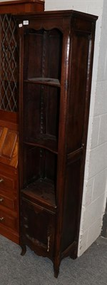 Lot 1064 - A Tall slender French open bookcase, 43cm by 31cm by 174cm.