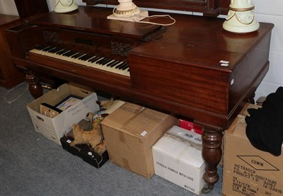 Lot 1072 - A 19th century mahogany and rosewood Clementi & Company, London, square piano, 180cm by 72cm by...