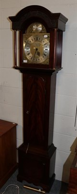 Lot 1073 - A reproduction mahogany Grandmother clock bearing plaque, ''A limited edition of 250, William...