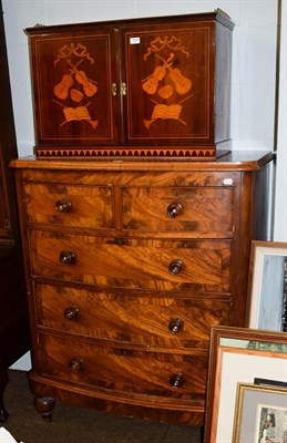 Lot 1084 - A Victorian mahogany crossbanded bow-fronted chest of drawers, 110cm by 56cm by 132cm
