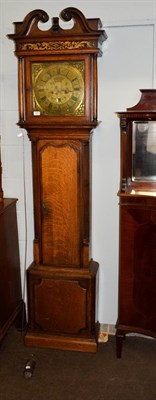 Lot 1091 - An oak thirty hour longcase clock, signed Jere/Standing, Bolton, late 18th century