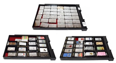 Lot 22 - ~ A collection of Zippo lighters, various themes (3 trays)